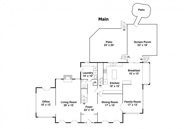 Home Alone house floor plans from real estate listing