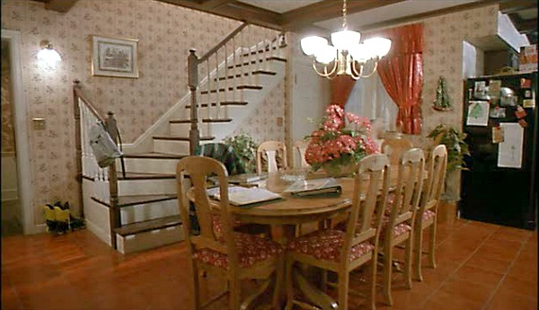 Home Alone movie house kitchen back staircase