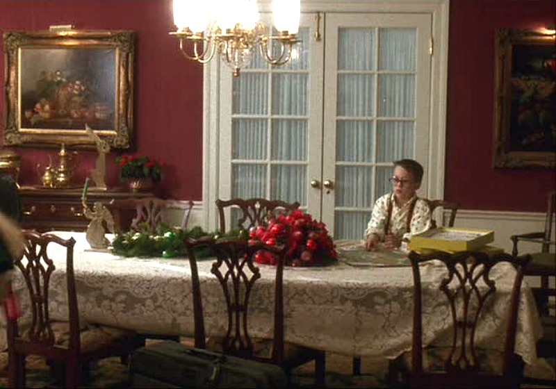 Home Alone red dining room
