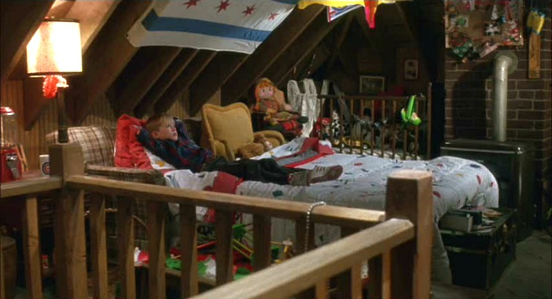 Kevin in the attic Home Alone movie sets