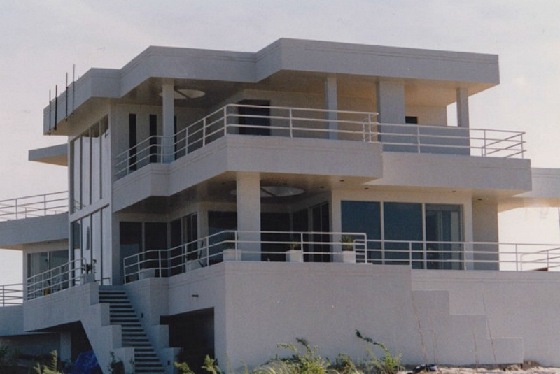 Modern Beach House Being Built for Sleeping with the Enemy Movie