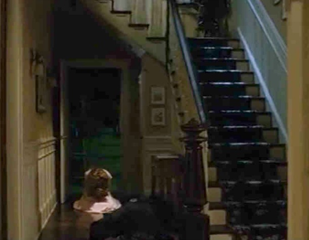 Sleeping with the Enemy white cottage staircase
