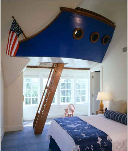 Boys Room With Nautical Theme And Ship Hull Psdab