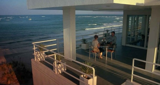 dinner on the beach house terrace