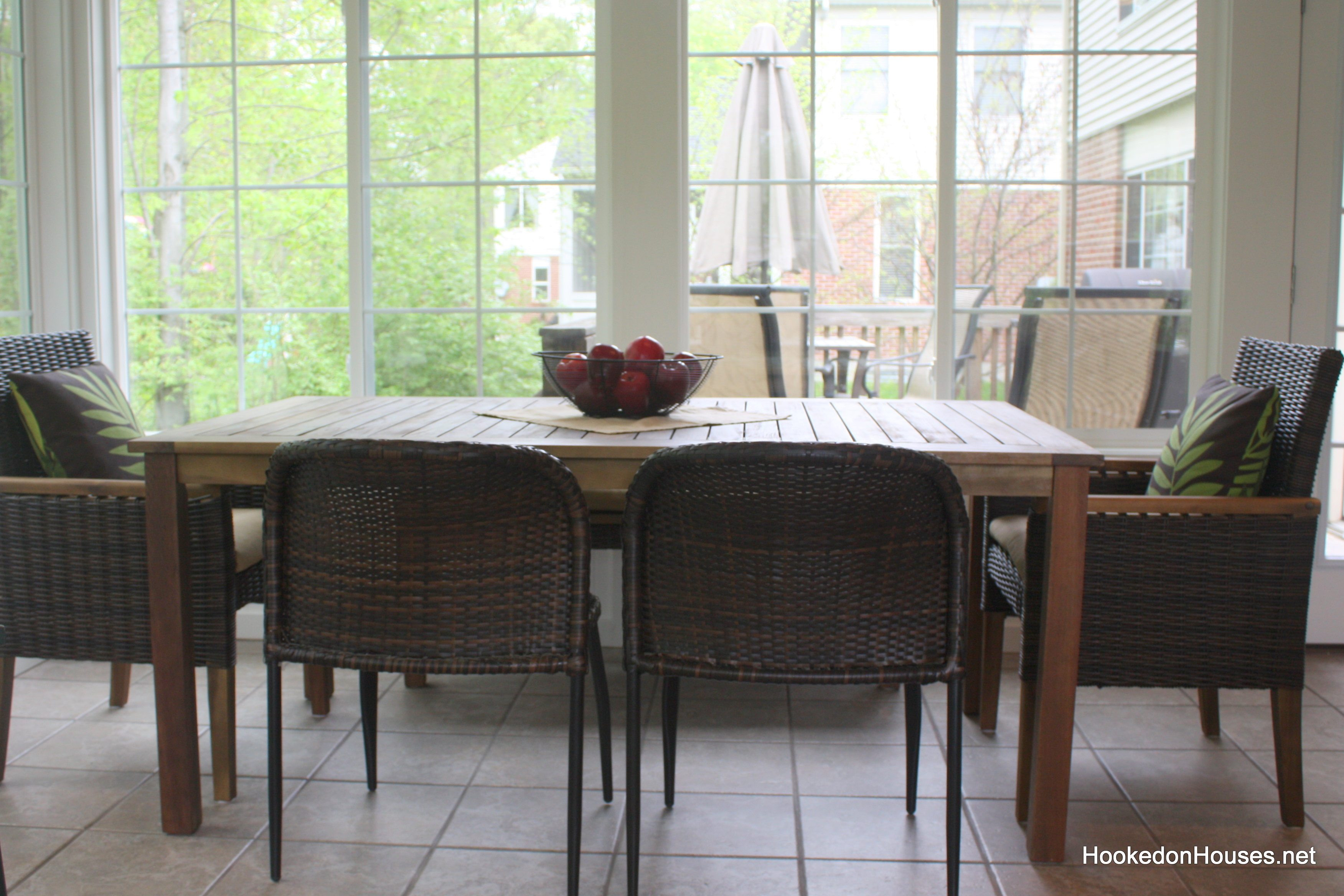 Sunroom Update: My New Table and Chairs - Hooked on Houses