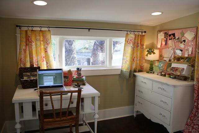 craft room with desk and dresser