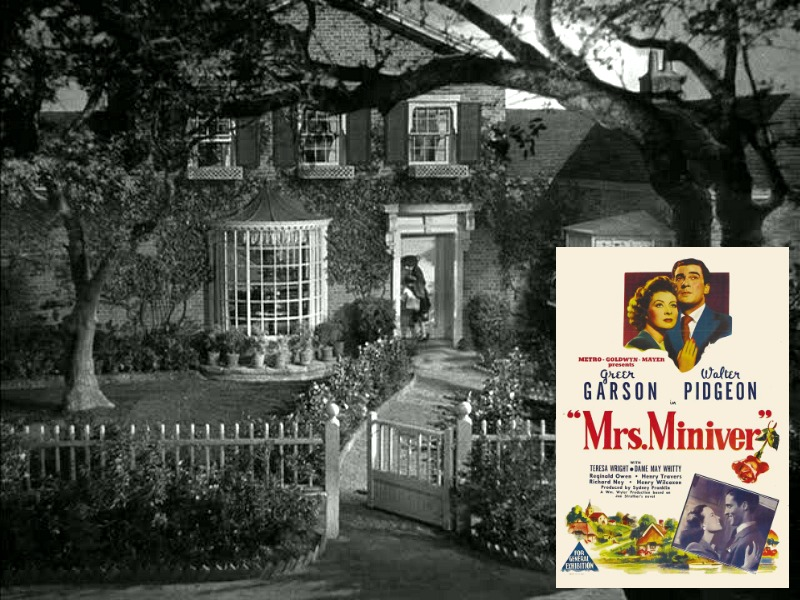 Mrs. Miniver movie house exterior featured