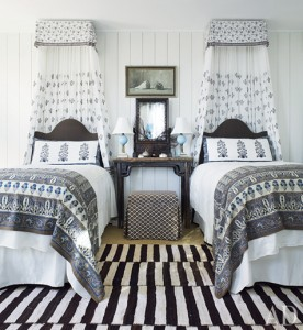 guest bedroom in beach bungalow