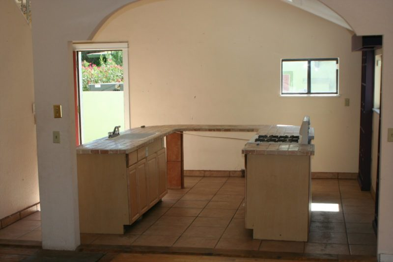 Empty kitchen during remodel