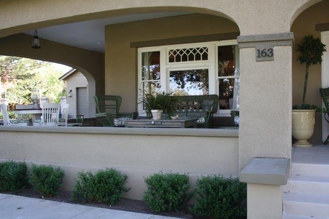 front porch of bungalow