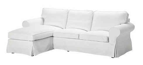 Ektorp sofa in Blekinge white slipcover from IKEA catalog