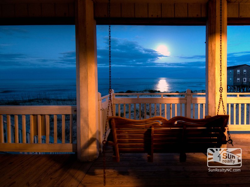 porch swing overlooking the beach