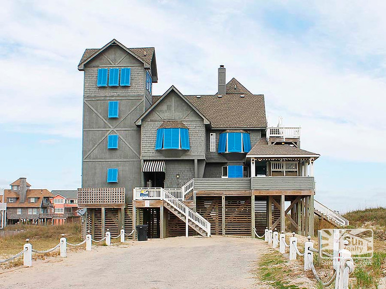 front exterior of the Inn at Rodanthe Hatteras Island Today