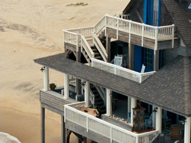 aerial view of the inn at Rodanthe