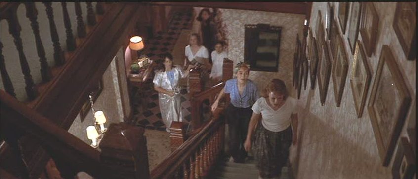 League of Their Own boarding house staircase