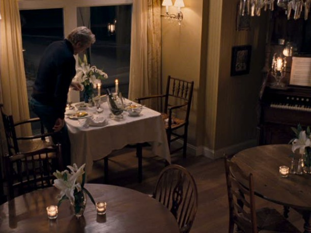 Richard Gere in the dining room of the inn