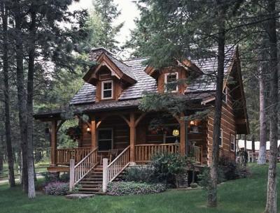 Jack Hanna's log cabin in Montana