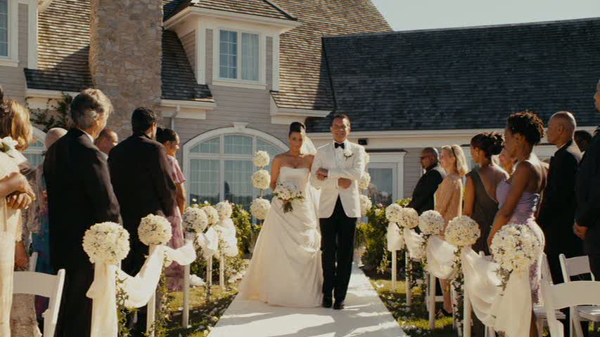 wedding in the backyard in Jumping the Broom