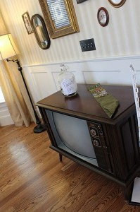 TV and penny jar for Paradise Falls
