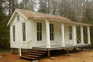 Texas Tiny Houses-white guest cottage