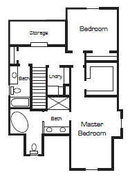 Up house floor plan by Bangerter Blders-second story