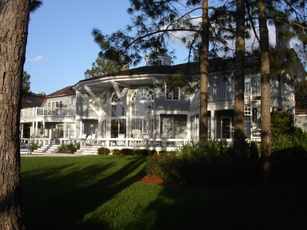 back of Sea Island house before remodel