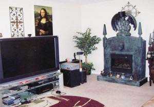 creepy gothic fireplace-ugly house photos