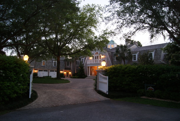 front gates leading to house