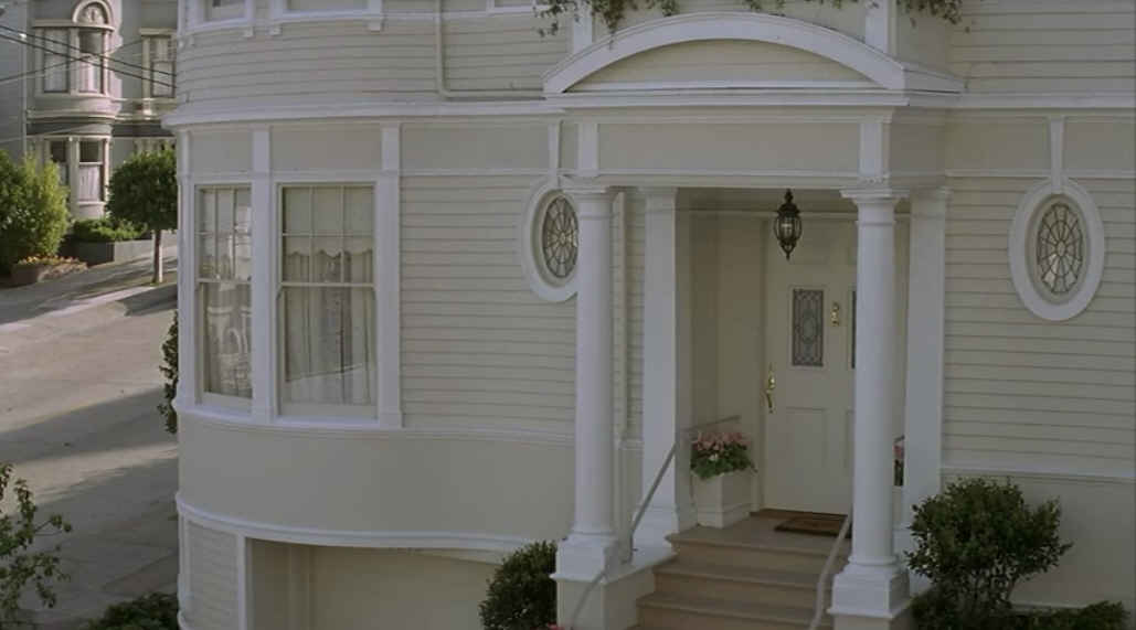 Mrs. Doubtfire house-closup of front door