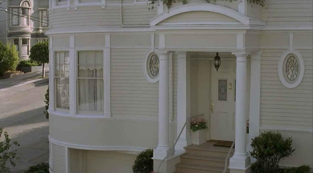 Mrs. Doubtfire house-closup of front door