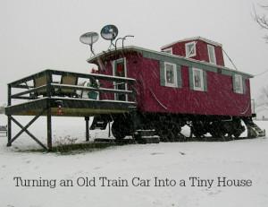 old train car turned into tiny house