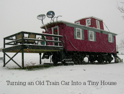 old train car turned into tiny house