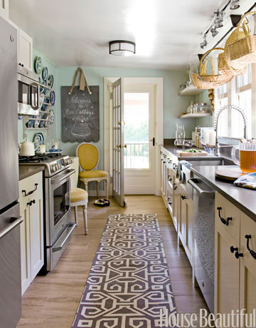 Home kitchens small tiny on pinterest compact for Great galley kitchen designs