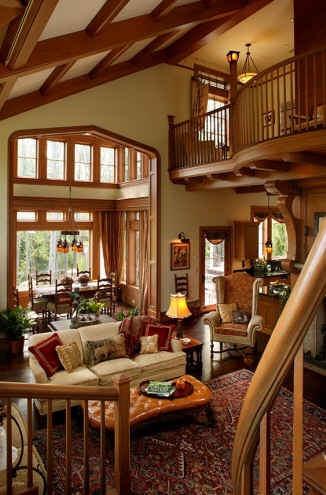 Two Story Great Room Hooked On Houses