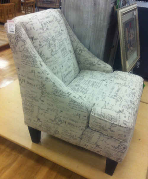 chair in Home Goods store