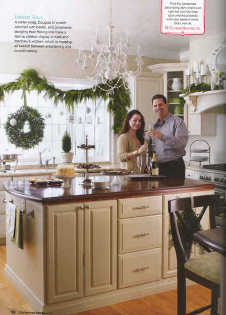 Kate and husband standing in kitchen
