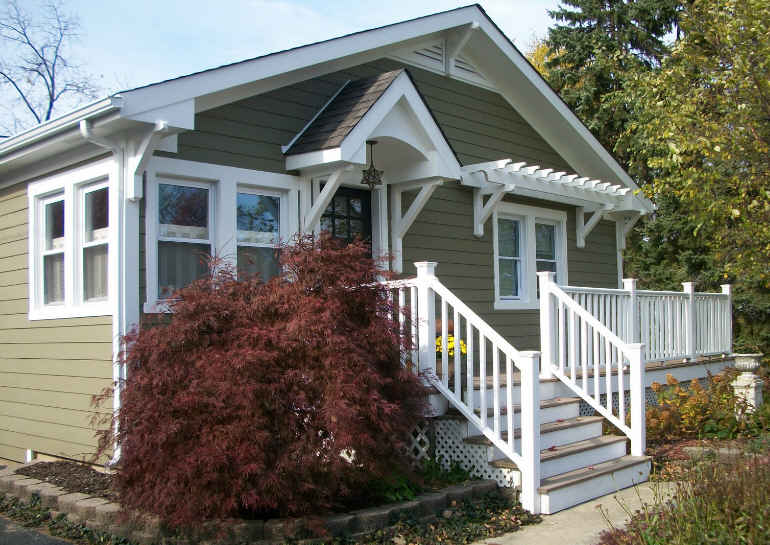 Turning a plain jane house into a craftsman style cottage for Craftsman cottage style homes
