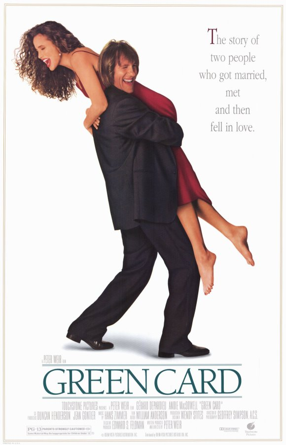 Green Card movie poster Andie MacDowell