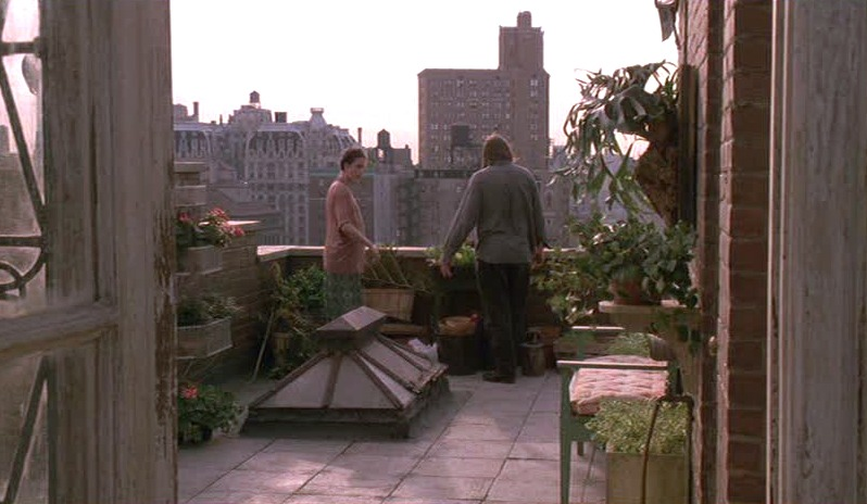 Green Card movie rooftop garden apartment
