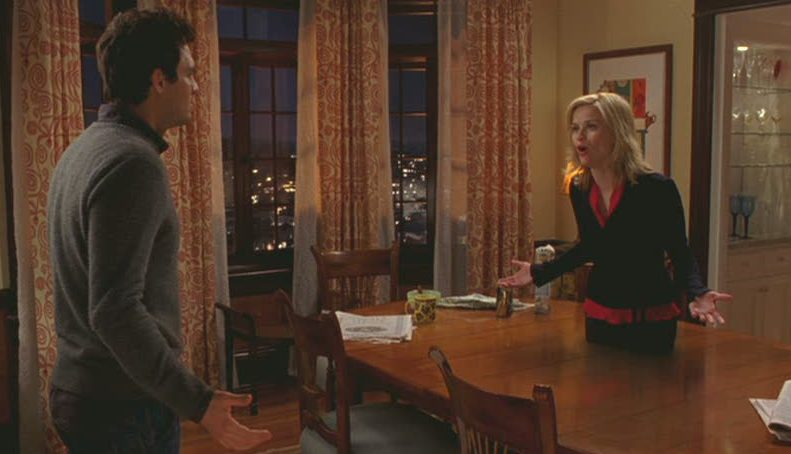 Reese Witherspoon\'s character finds herself floating into a dining room table