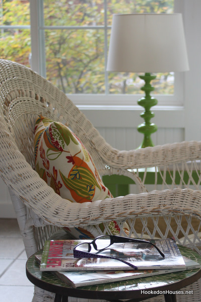 A chair sitting in front of a window