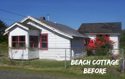Coastal Nest Beach Cottage BEFORE