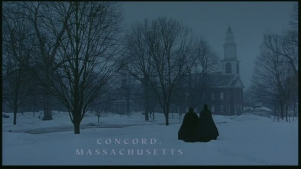 Concord in the opening scene on a snowy day