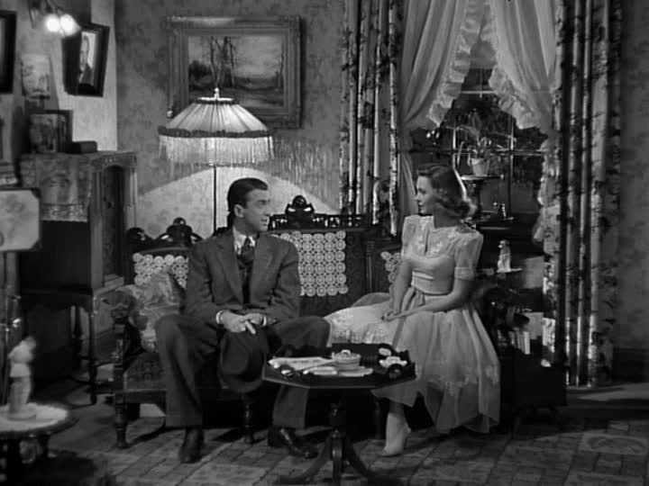 George and Mary sitting in her parlor