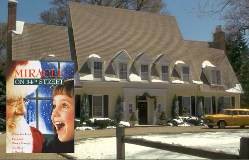 Miracle on 34th Street movie remake yellow house