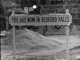 Sign that says You Are Now in Bedford Falls