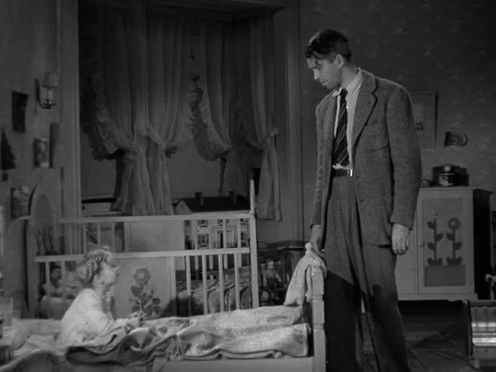 Jimmy Stewart talks to Zsu Zsu in her bedroom