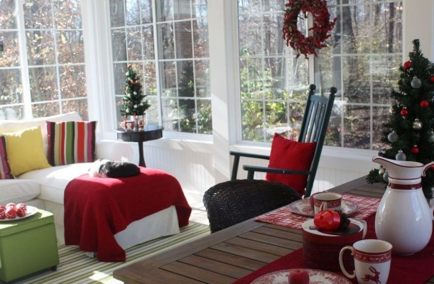 My Sunroom Is Ready for Christmas...Now All We Need Is a Little Snow ...