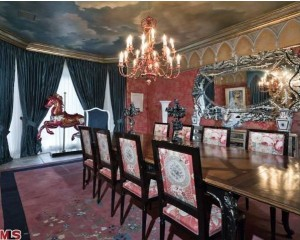 Christina Aguilera's house-dining room