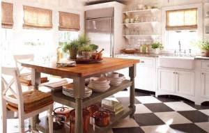 Donna Talley's house-kitchen checkerboard floor
